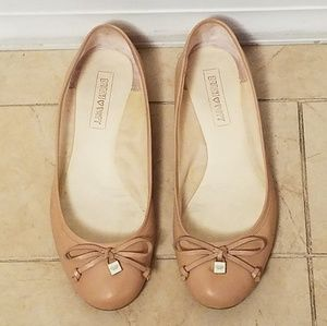 COACH POPPY Ballerina Flats Shoes in Beige